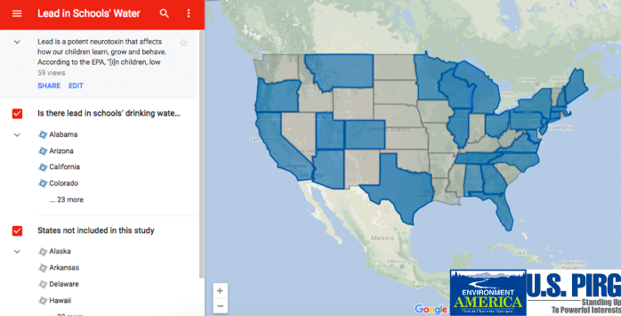 Us Map Of Lead In Water Lead contamination in schools' drinking water: worse than