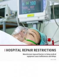 Cover of Hospital Repair Restrictions Report